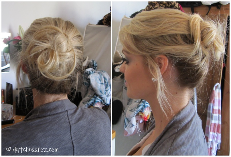 How To Create A Messy Bun With Goody Spin Pins Dutchess Roz