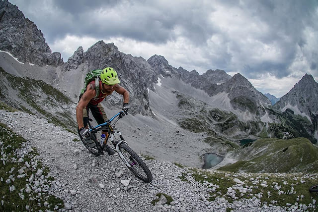 Abahrt Trail MTB - Mountainbike Tour Grünsteinscharte