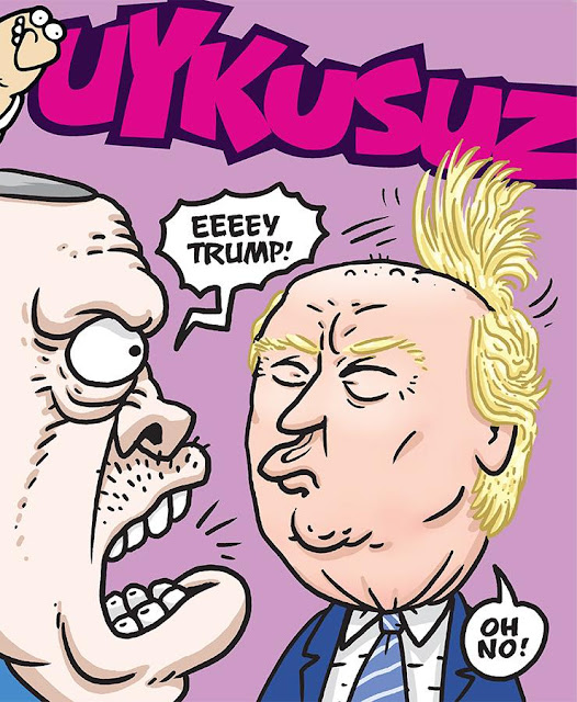 trump ve erdoğan karikatür