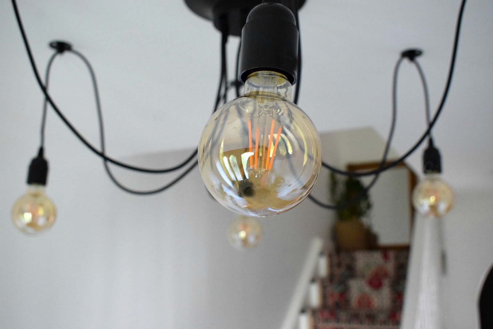 industrial retro chandelier lighting & industrial chandelier for the hall ~ Make Do and DIY