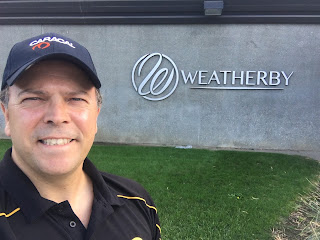 Ace Luciano outside of the Weatherby Factory in Paso Robles, California