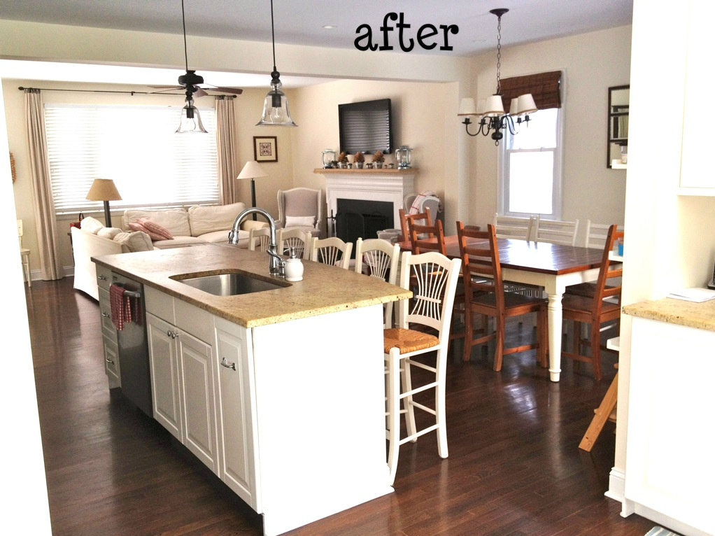 Remodelaholic Creating An Open Kitchen And A Winner