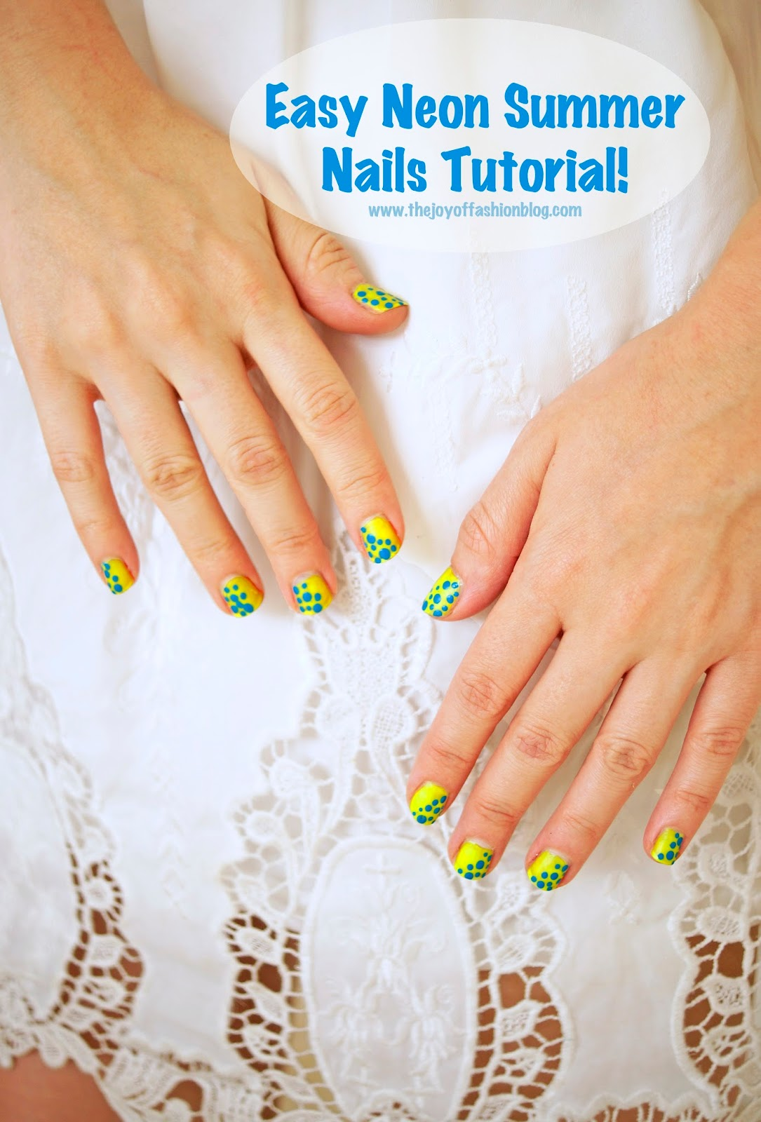 These cute neon nails are perfect for Summer! Click through for step by step tutorial