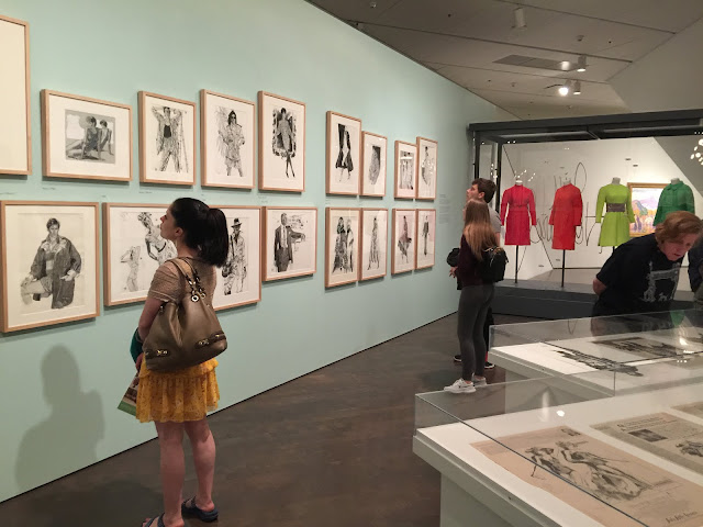 Denver Art Museum visitors in the Jim Howard Fashion Exhibition