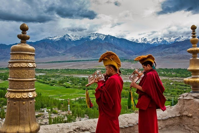 Thiksey Monastery in Ladakh is one of the finest Tibetan Monasteries in India