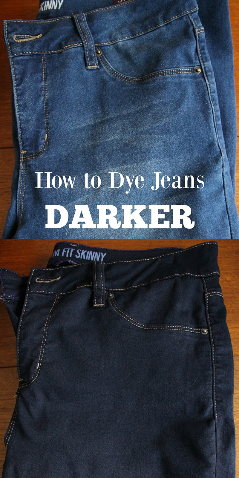 How to dye jeans darker
