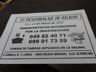 Servicio de transporte de piezas en el Desembalaje Bilbao