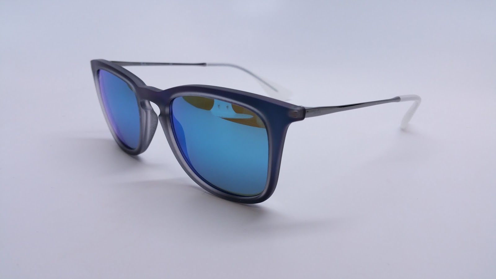 Ray Ban Rb 4221 6170 55 Shot Blue Rubber Sunglasses I
