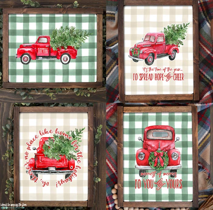 Farmhouse Christmas Printables