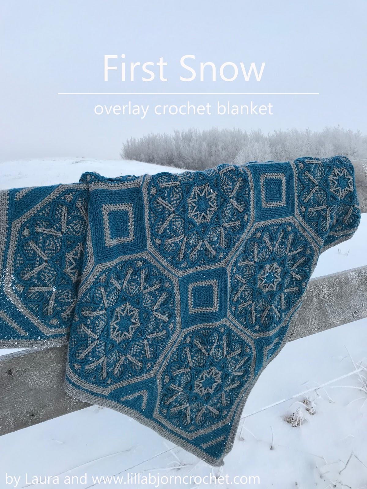First Snow: overlay crochet blanket by Laura | LillaBjörn\'s Crochet ...