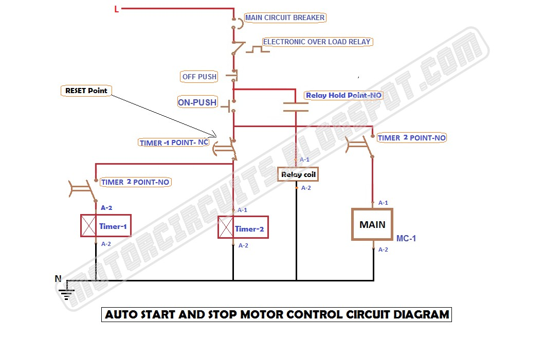 How to auto start stop motor automatically ONOFF with timer