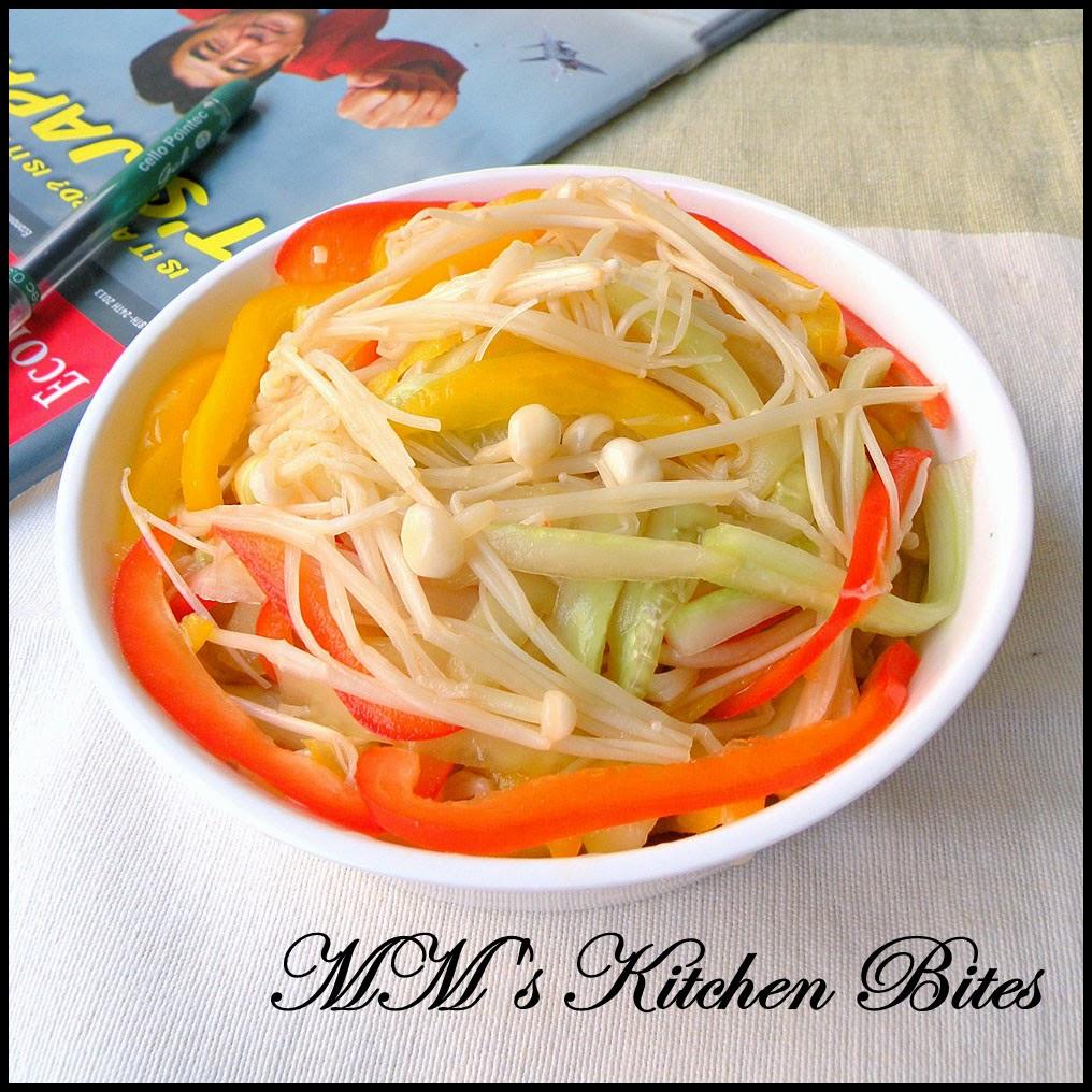 Korean Enoki Mushroom Salad mmskitchenbites