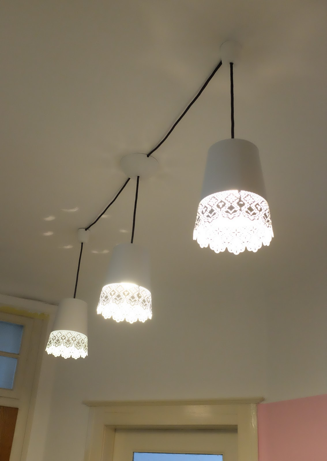 IKEA Hack   aus Blumenvasen wird eine Deckenlampe ...