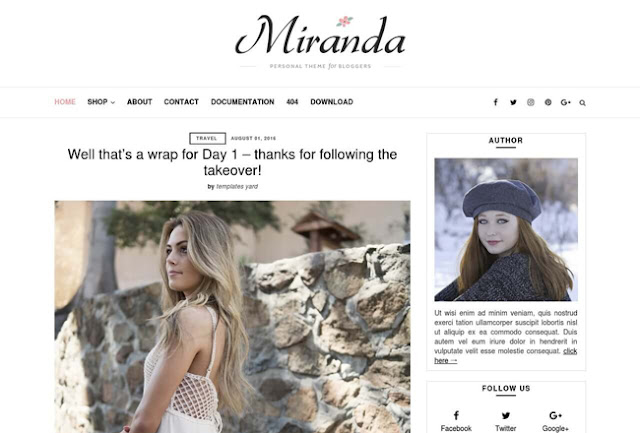Miranda Blogger Template