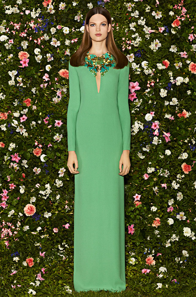 Gucci 2013 green Katy Perry dress