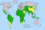 Mapa de localización de los países del Tercer Mundo