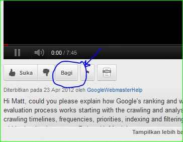 cara membagikan video youtube ke blog