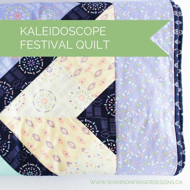 Kaleidoscope Ca: Shannon Fraser Designs: Kaleidoscope Festival Quilt