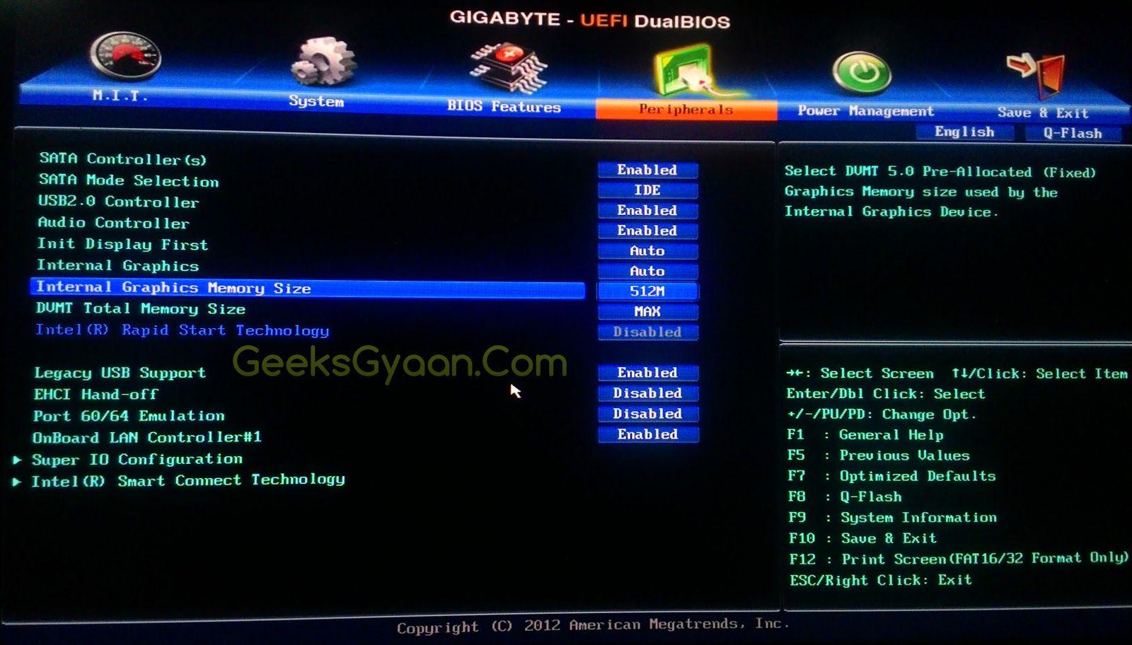 how to increase intel hd graphics dedicated video memory geeks gyaan. Black Bedroom Furniture Sets. Home Design Ideas
