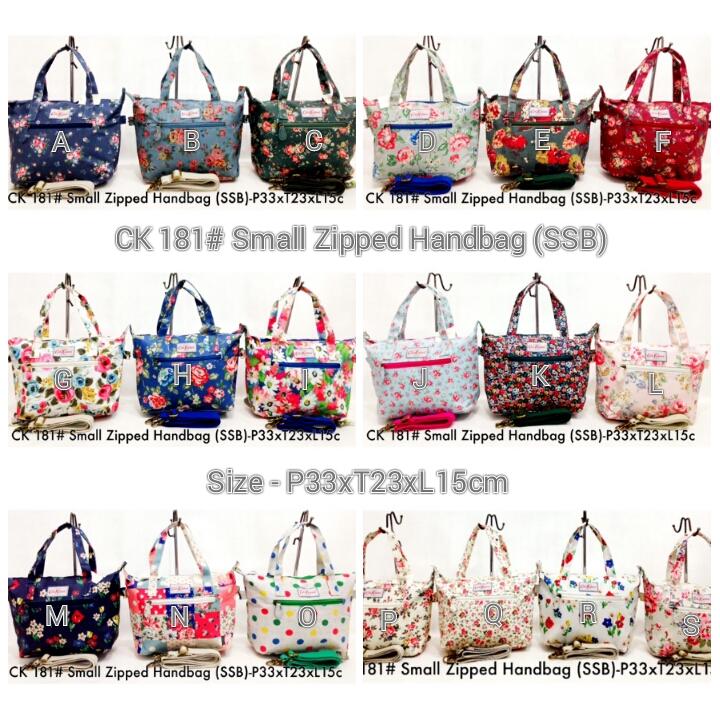 Cath Kidston 181 Small Zipped Handbag Ssb Rp 190 000