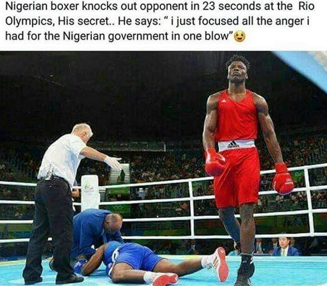 Did Nigerian boxer Efe Ajagba really say this about our government?