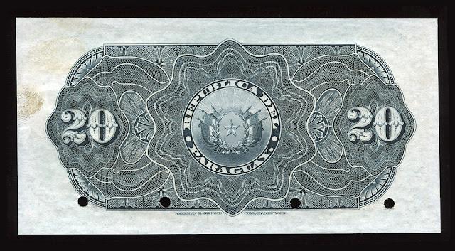 Billetes Paraguay 20 Pesos