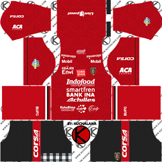Bali United 2018 Kit - Dream League Soccer Kits