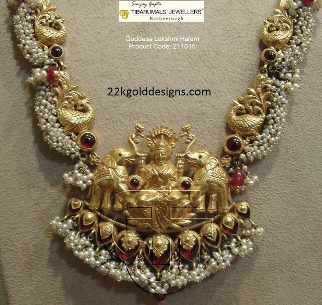 Temple Lakshmi Haram with Pearls