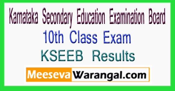 KSEEB Karnataka Secondary Education Examination Board 10th Class Exam Results 2018