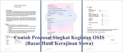 contoh proposal singkat kegiatan osis untuk mengadakan bazar hasil kerajinan siswa