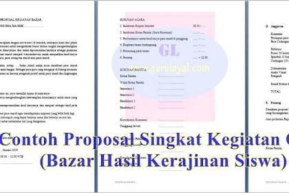 Proposal Singkat Kegiatan OSIS (Bazar Hasil Kerajinan Siswa)