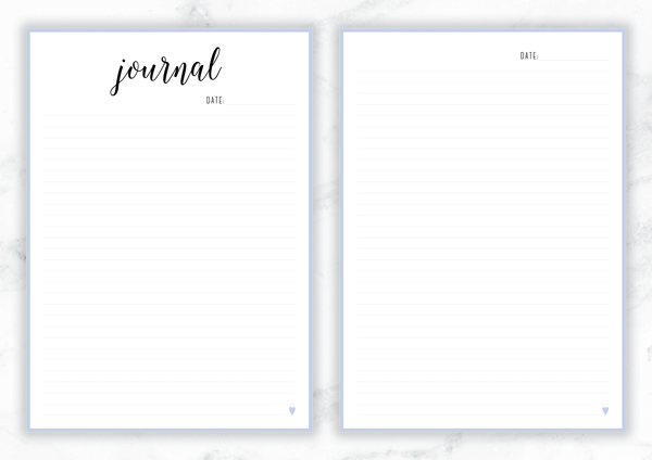 Free Printable Irma Journal Pages // Eliza Ellis. Includes lined and unlined versions as well as follower pages. Available in 6 colors and in both A4 and A5 sizes.