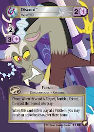 My Little Pony Discord, Wrathful Equestrian Odysseys CCG Card
