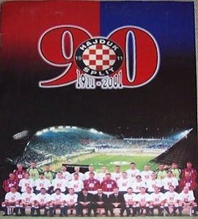 Hajduk Split sličice album 90 godina