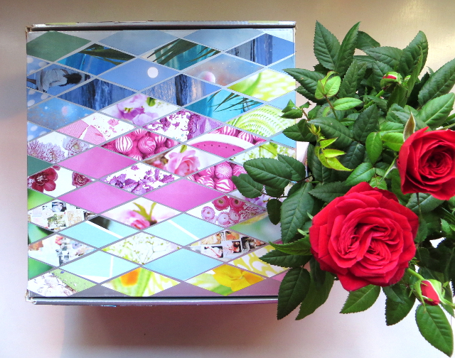 diamond collage box decoration