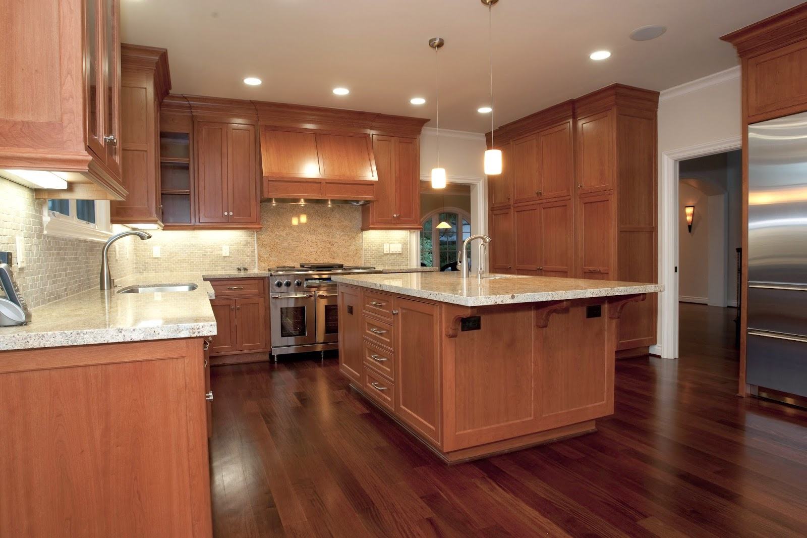 Uncategorized Brazilian Cherry Cabinets coloring your world how to coordinate hardwood flooring cabinetry cherry cabinets blend nicely with slighter darker floor