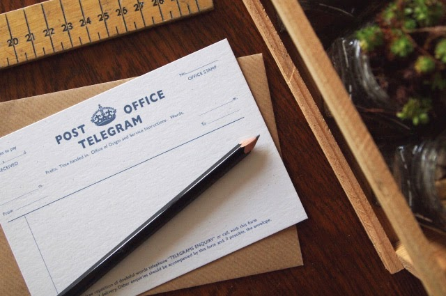Alfies Studio Telegram Note Cards with Envelopes