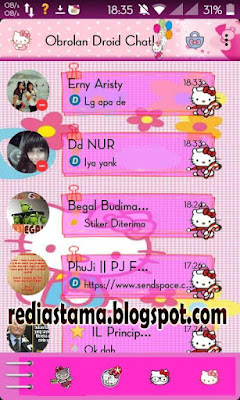 BBM Hello Kitty Theme Droid Chat v4.7.05