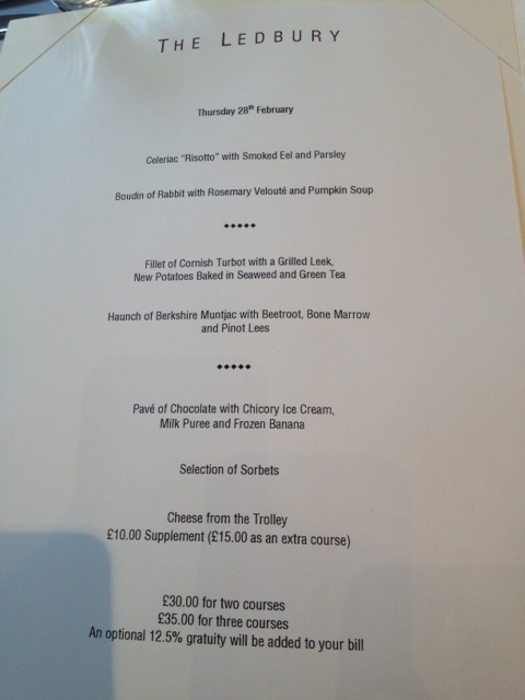 Notes From My Kitchen Table: Lunch @ The Ledbury