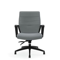 Luray Office Chair with Gray Upholstery