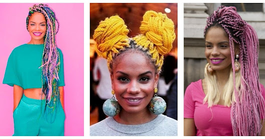 BOX BRAIDS COLORIDAS | INSPIRE-SE