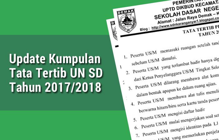 Kumpulan Tata Tertib UN SD 2018