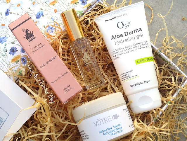 O3+ Aloe Derma Hydrating Gel, Votre Purifying Deep Cleansing and Clearing Masque, Herra Hair Care Protect Hair Perfume
