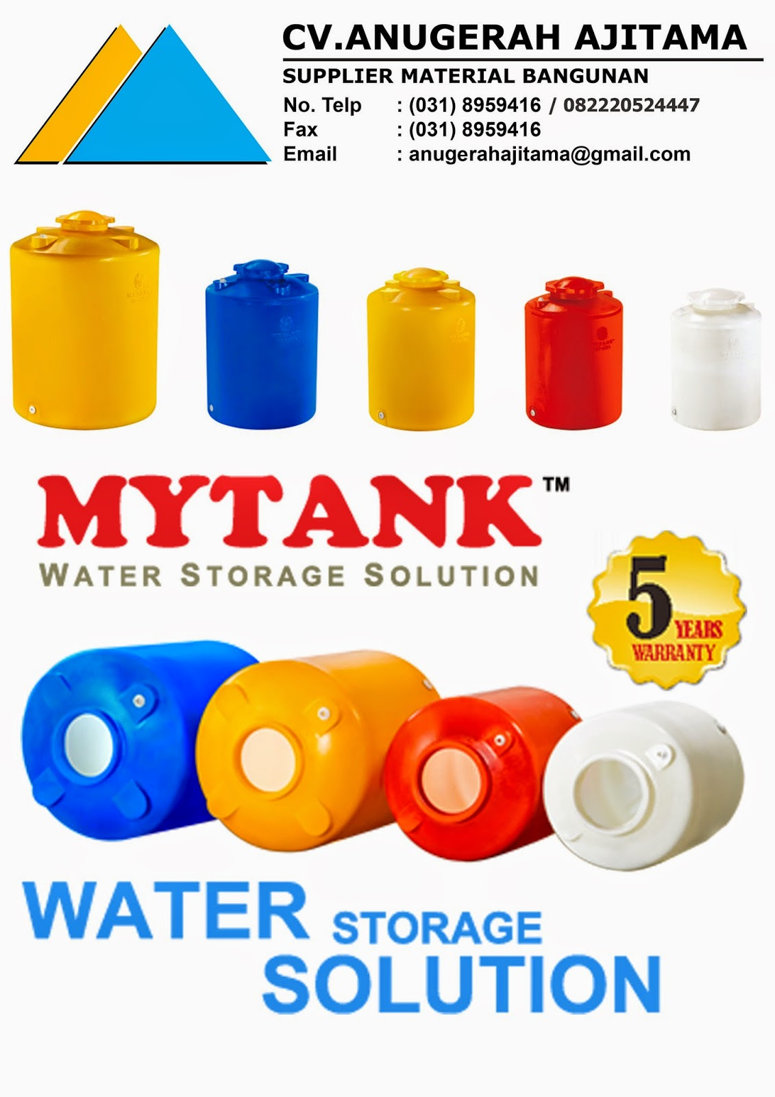 JUAL TANDON AIR MYTANK