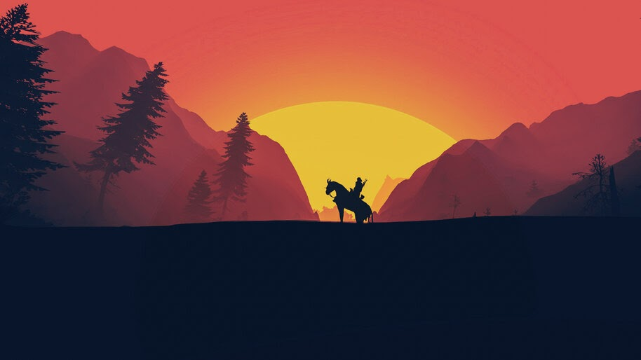 The Witcher 3 Wild Hunt Minimalist 4k Wallpaper 5 1321