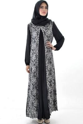 Baju gamis batik wanita modis