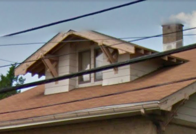 dormer with 5-piece brackets on Sears Bandon at 800 Crestview Road, Philadelphia, PA