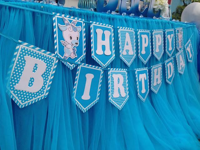 Mẫu trang trí thôi nôi sinh nhật dành cho bé trai