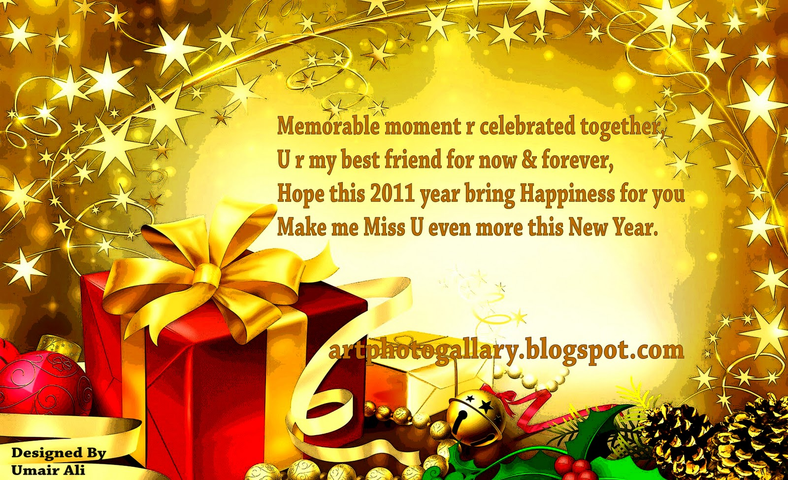New Year Greeting Cards.6 Best Happy New Year Wallpapers 2014