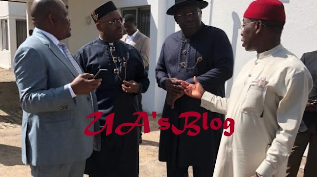 JUST IN: Dickson leads PDP governors to Aso Rock